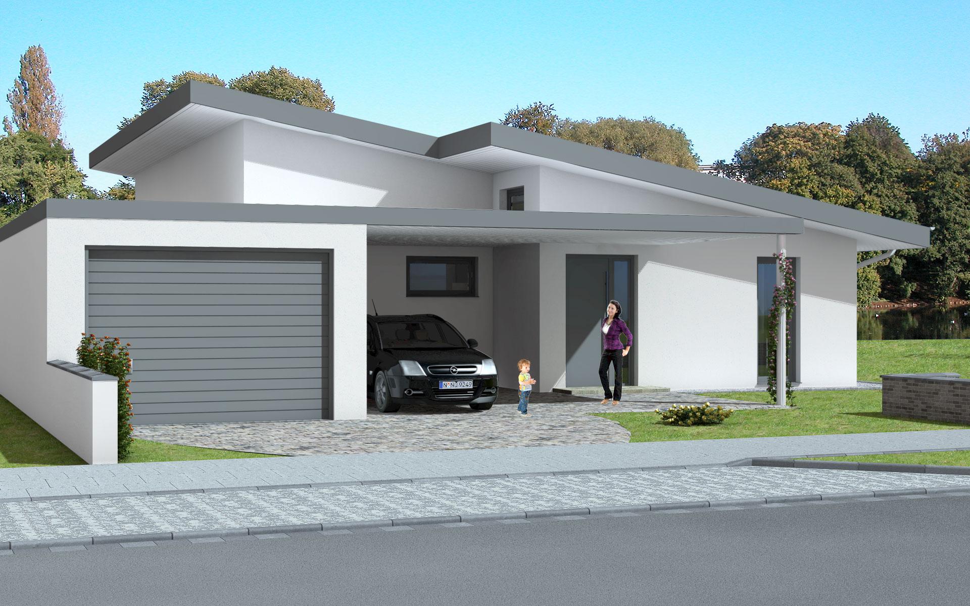 Sonnenhaus ihr zukunftshaus for Bungalow modern mit garage
